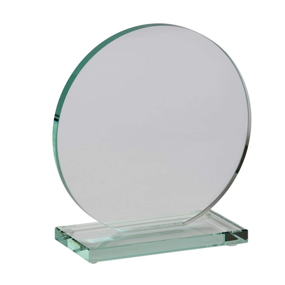 "Medium Clear Orb Trophy, 6"" x 4.75"""