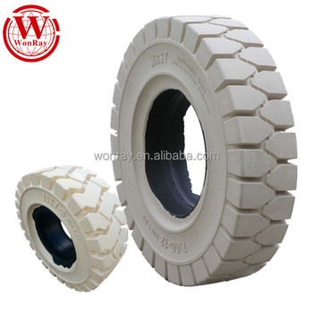 Non Marking White Solid Tires 18x7 8 Industrial Forklift