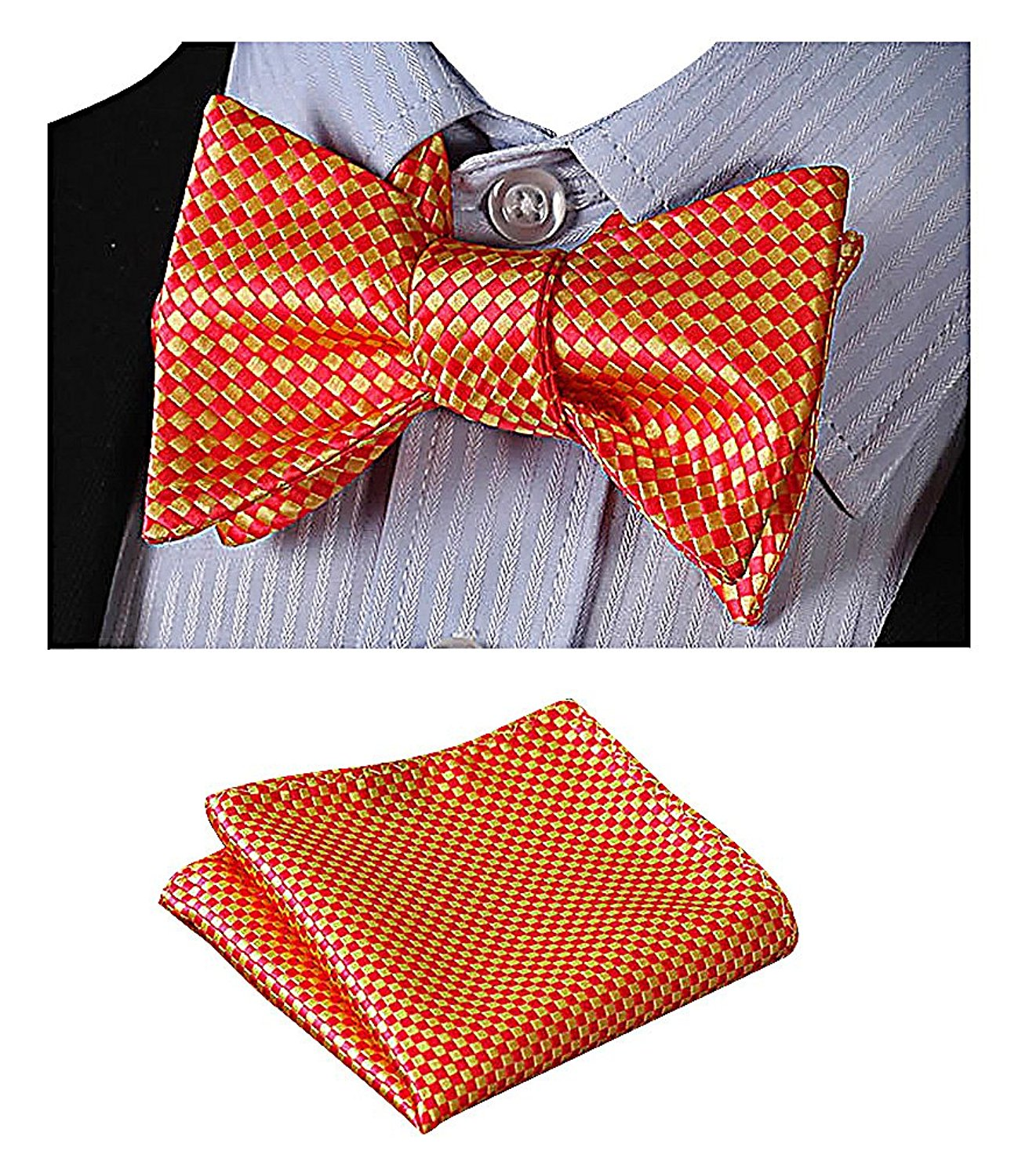 02207872115 Get Quotations · Celino Men Eclectic Multicolor Prints Stylish Silk  Butterfly Bow Ties   Hankies