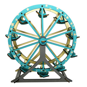 Ferris Wheel 3D wooden puzzle component assembly model exquisite intelligent toys DIY creative kids puzzle for birthday present