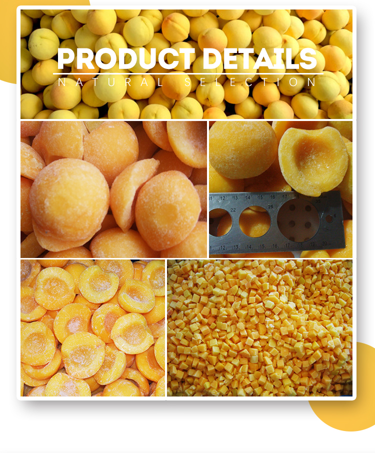 Hot sale for wholesale IQF delicious frozen yellow peaches diced