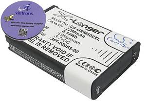 vintrons (TM) Bundle - 2200mAh Replacement Battery For GARMIN Alpha 100 handheld, Montana 600T, + vintrons Coaster