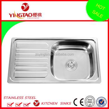 Counter Atas Barang Dapur Ukuran 30x16 Inch Tunggal Drainer Mangkuk Stainless Steel