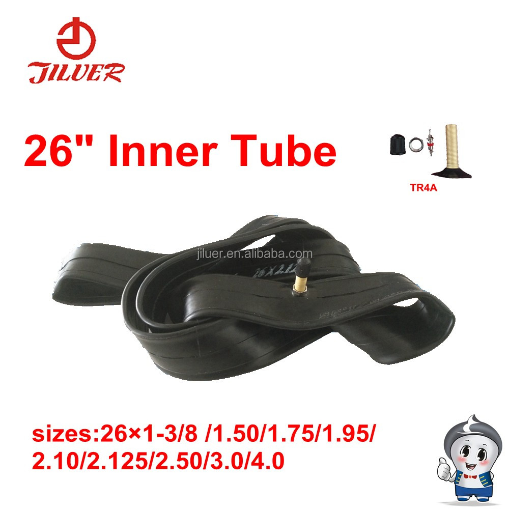 Natural rubber 26 inch inner tube/ bicycle tube/26x1.50 1.75 1.95 2.125 3.0 4.0 TR4A