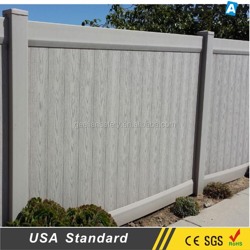 Decorative metal fence panels, white vinyl picket fence /pvc recinzione, blanco cerca de vinilo