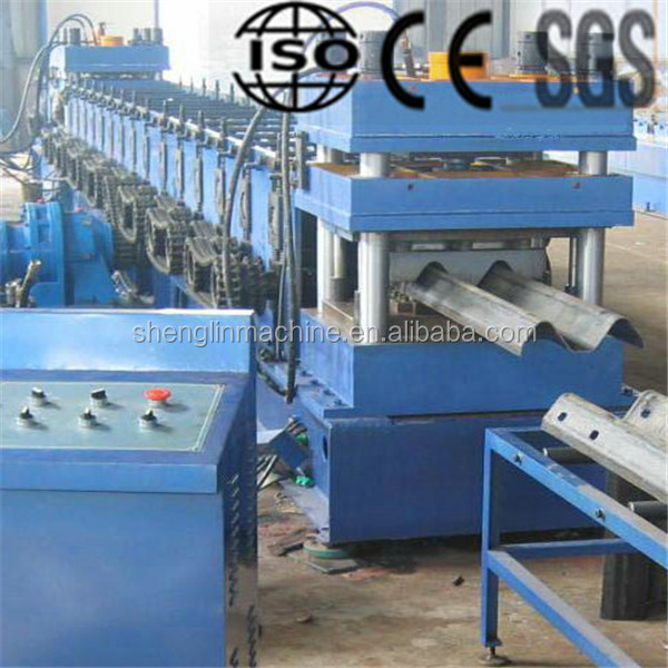 CE approved roll forming machine for highway/freeway/high speed way , guardrail sheet making equipment