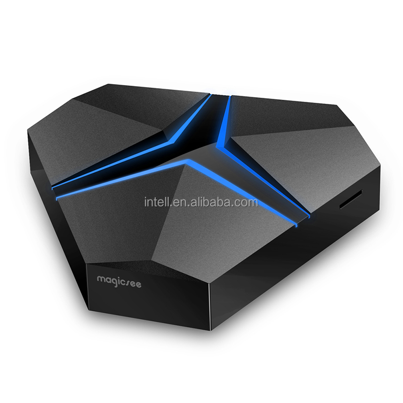 High quality magicsee iron+ andriod tv box s912 3gb 32gb Andriod 7.1 internet google tv receiver 4k dual wifi 2.4G 5.8G