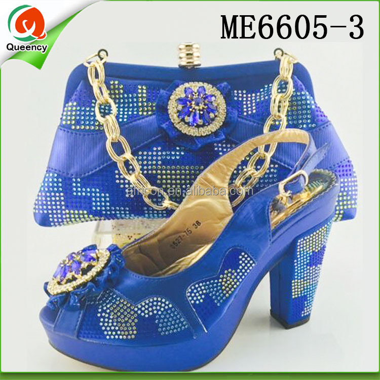 Women and Shoes African Party Italian Ankara ME6605 for Queency Bag Matching Style OwHPq