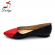 2016 fashion pointed toe flat black red joint ladies casual shoes pictures of women flat shoes