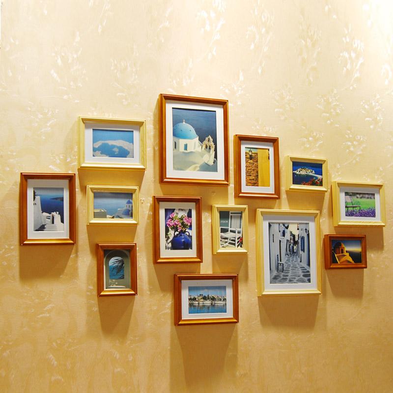 Замечательный итальянский дерево фото стены творческая фото размером с современный минималистский стены фоторамка сочетание 13