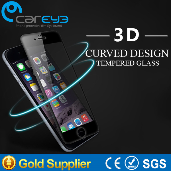 3D curved edge 2016 hot sale for iphone 6 6plus 6s 6splus 0.3mm 9H Anti scratch tempered glass screen protector for apple ipho