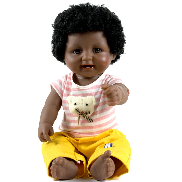 2017 New product 18 Inch african american black <strong>doll</strong> for kids