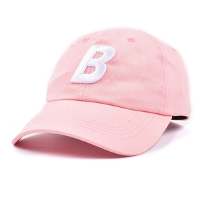 Embroidered logo custom 6 panel unstructured hats, pink girls baseball caps