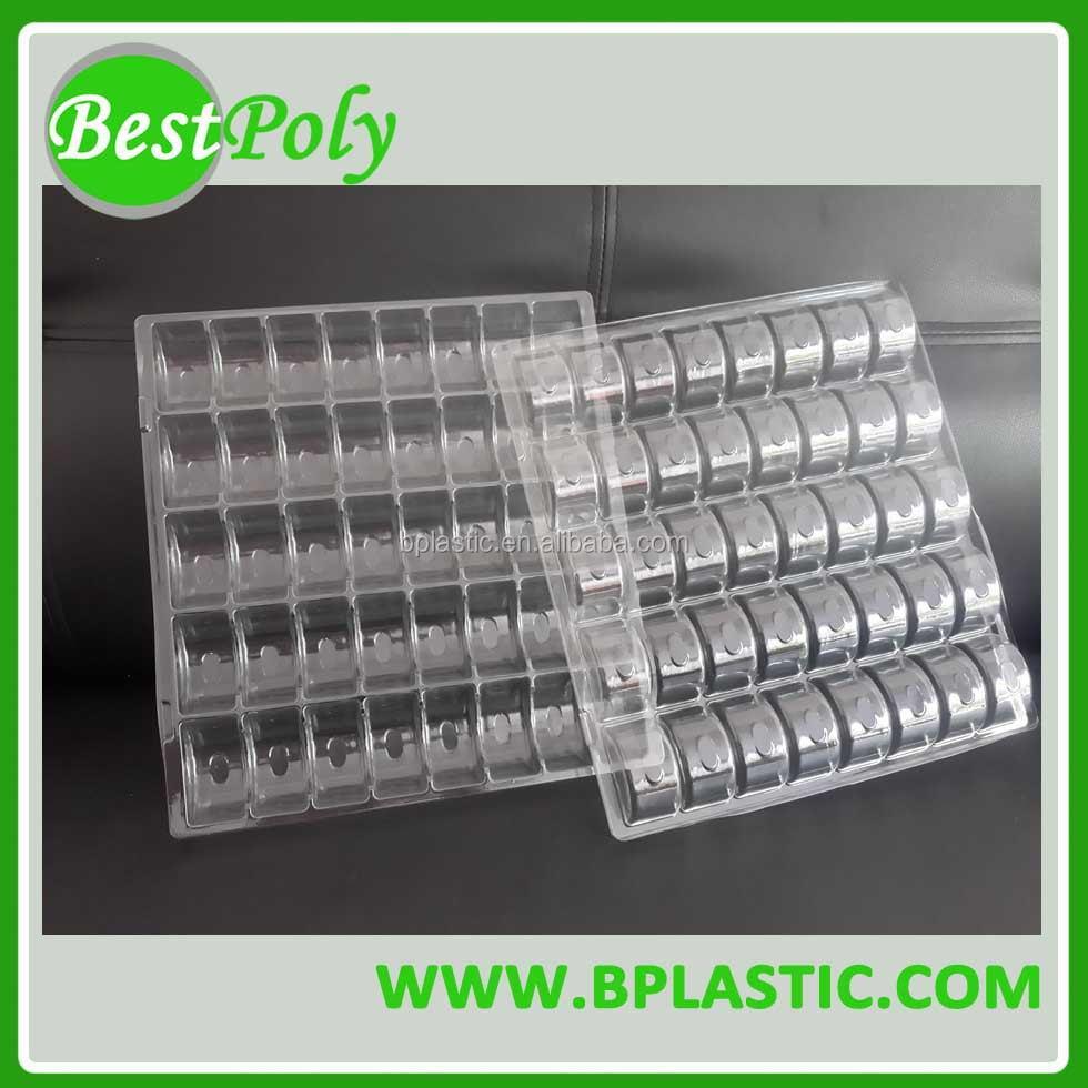 Recycled clear plastic egg tray polystyrene tray