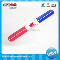 OEM custom logo silicone bracelet slap watch wristband design on you