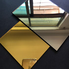 Plastic Acrylic Mirror 100x200x3mm Rectangle Gold Mirrors Not Easy To Broken Can Cutting In To Any Size