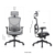 Manufacturer Supply High Back Chair Office Furniture Mesh Chair Executive Office Chair