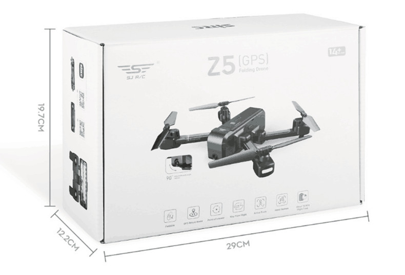 SJRC Z5 with Camera 1080P GPS Drone 2.4G/5G Wifi FPV Altitude Hold Quadrocopter Follow Me RC Quadcopter vs X12 XS812 B5W