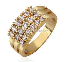 Genuine 18K Solid Gold Jewelry wide Rings Wholesale Price