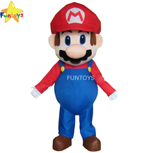 Funtoys <span class=keywords><strong>CE</strong></span> Cosplay Super Mario <span class=keywords><strong>Bros</strong></span>. Costume mascotte adulte belle robe Costume