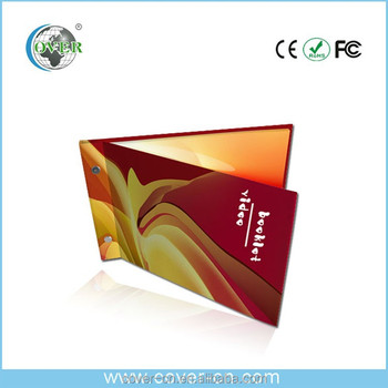 newest hot video brochure/LCD video greeting card/OEM&ODM video booklet
