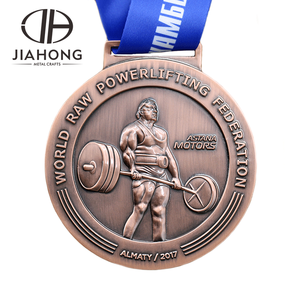 Cheap Custom Weightlifting Sports Metal Trophies Medal