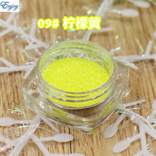 1/128(0.2mm) New Puren yellow color Nail Glitter Nail Art Glitter Polish Matte Glitter Powder Dust,free shipping #09