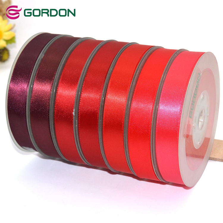 9mm Cor Sólida Fita de Cetim/Colhedor/Colhedor Tecido grosso