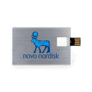 Full Color Printing 2GB Metal USB Business Card Stick