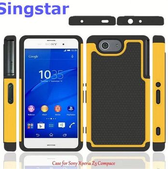 new product 236a1 195b0 Shockproof Heavy Duty Tough Hybrid Rubber Silicone Tpu Football Skin Back  Cover Hard Case For Sony Xperia Z3 Compact - Buy Hard Case For Sony Xperia  ...