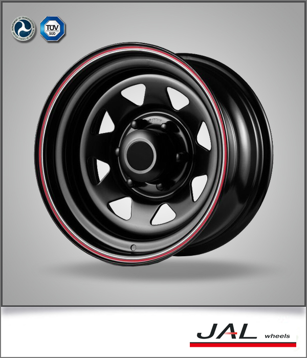 Top quality beautiful shape hot sale good price 15 inch 16inch PCD 5x150steel wheels 4x4 steel wheel