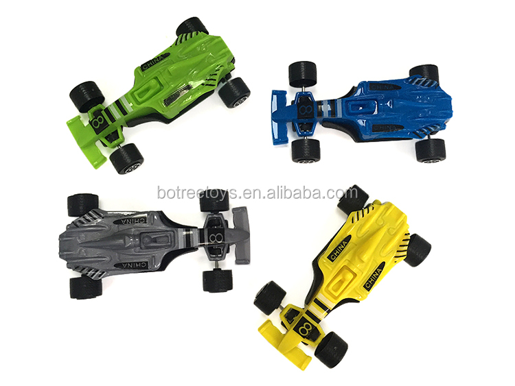 Pullback Formula Car Plastic Friction Toy Return Power Cars for Kids
