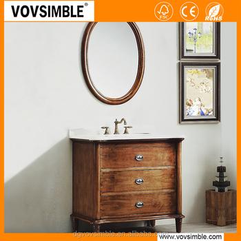 Vovsimble Waterproof Single Sink Clearance Bathroom Vanities