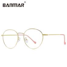 BANMAR, анти-синий светильник, очки для женщин и мужчин, очки для компьютера, оптические, Круглые, Ретро стиль, очки для игр, прозрачные линзы, A1911(Китай)