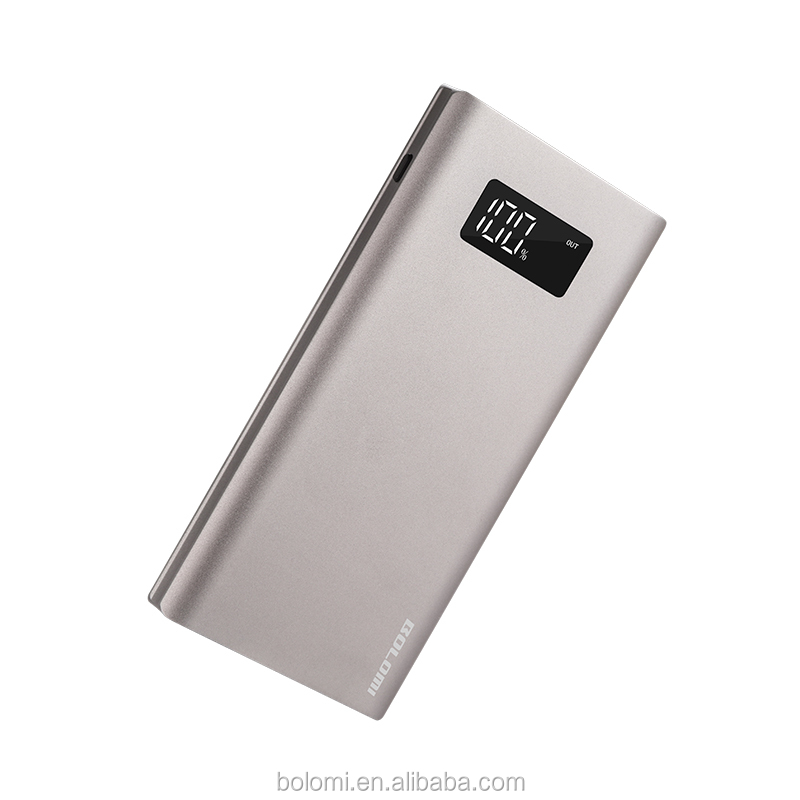 Wholesale high quality portable dual USB output powerbank with LED screen