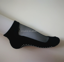 Glitter Mesh Non Slip Ergonomic Socks For Pilates Barre Ballet Yoga Dance