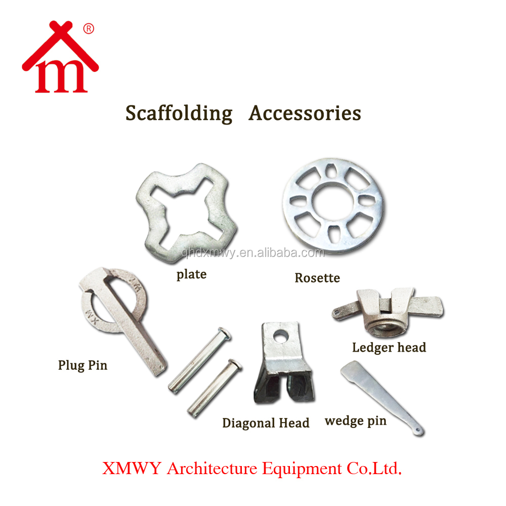 scaffolding system screw jack/shoring props/ledgers/steel planks/pins