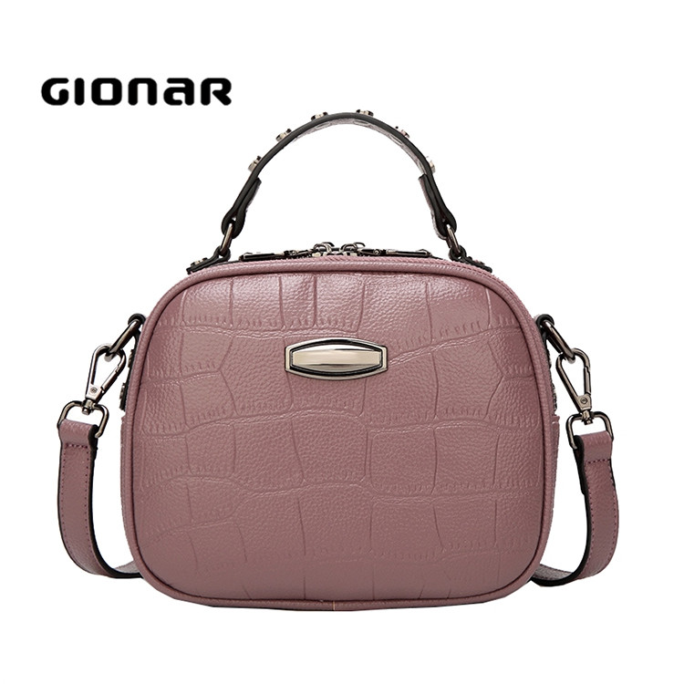 Factory In Guangzhou Ladies Fashion Genuine Leather Crossbody Bag