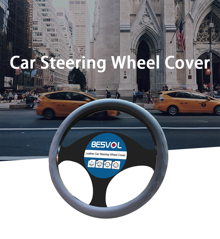 FX-G-041 silicone wheel covers padded steering cover printed