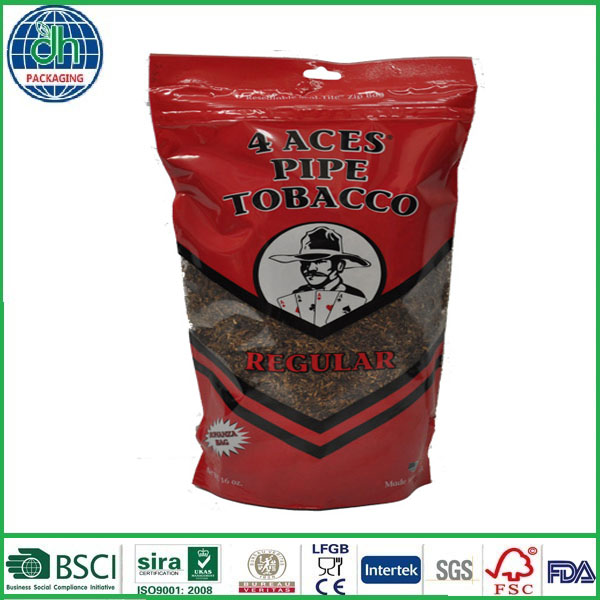 waterproof compound tabacco plastic bag