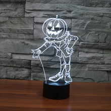 FS-3345 Pompoen Decoratie Led USB Lamp Halloween Vakantie Decoratie Licht