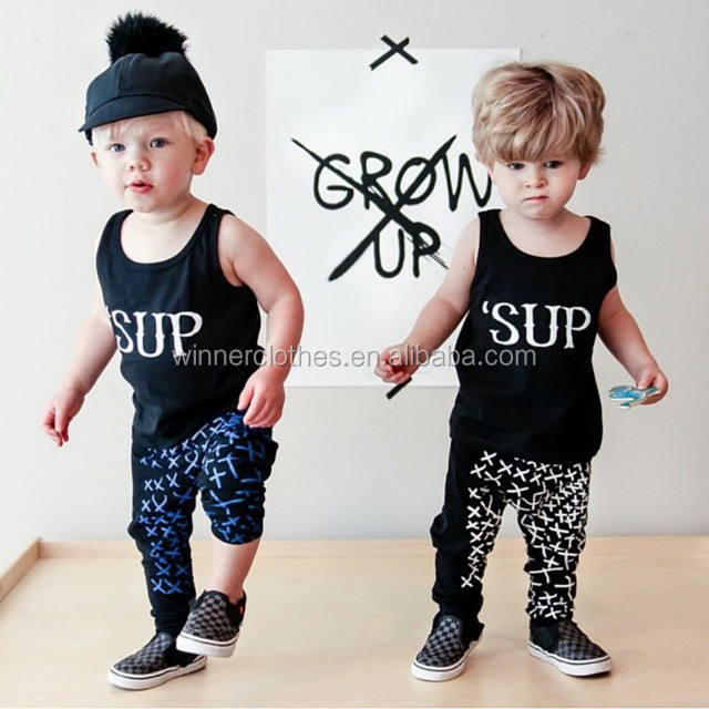 children kids baba suit Boys loose vset pants 2piece sports clothing