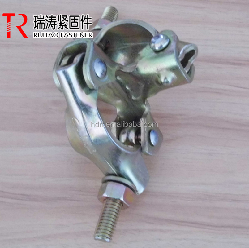 EN74/BS 1139 Punched double coupler for pipe fitting