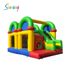 Colorful Giant Inflatable Combo Bouncer , Cheap Inflatable Bouncers For Sale