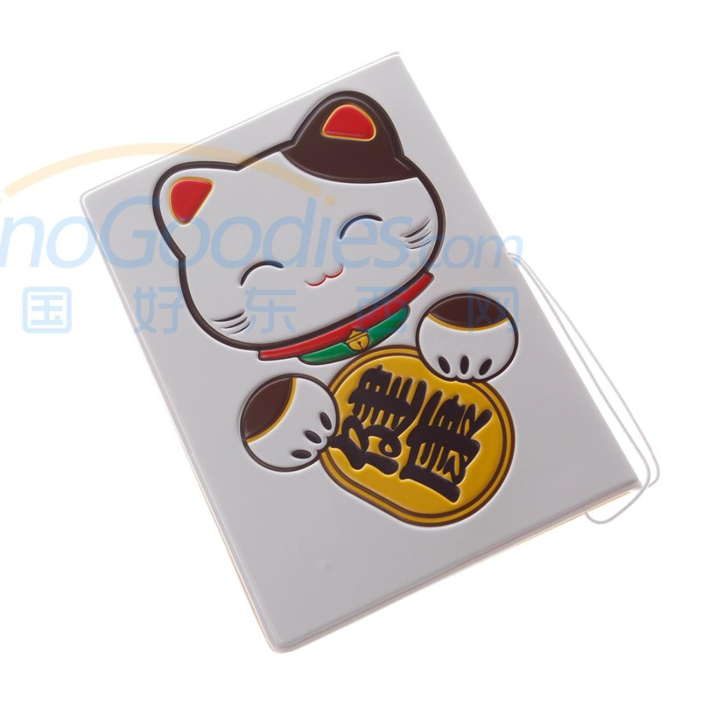 Wholesale 10 Pieces Passport Cover Brand New Travel Wallet Passport Cute Fortune Cat Female Card Holder Eros-CardHolder10