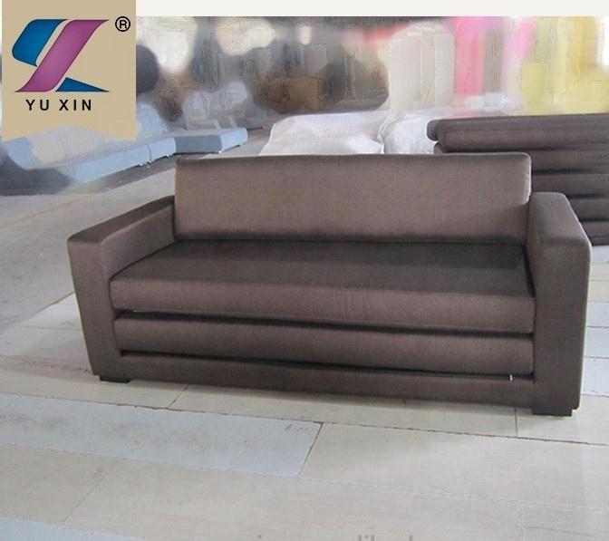 Brown Upholstered Cube Modern Folding