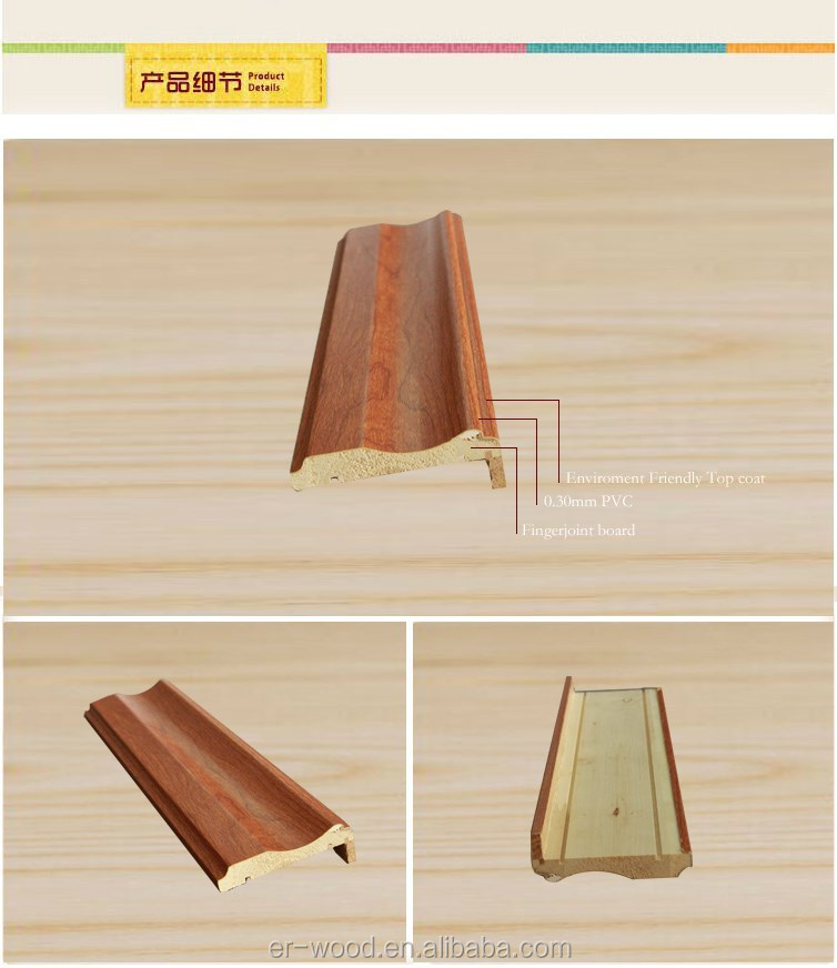 Pvc Wrapping Door Frame Trim Profile Moulding - Buy Door Frame ...