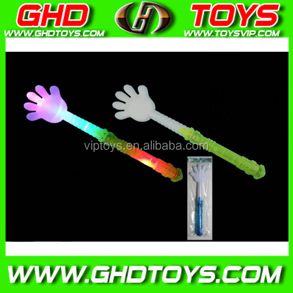 Newest popular concert flashing led stick light, plastic hand shot stick with IC song for party cheering