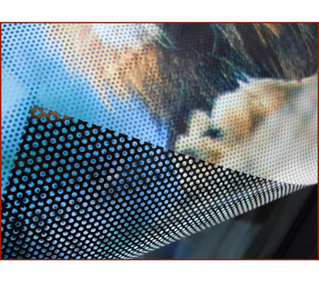Full Color See Through One Way Vision Perforated Glass