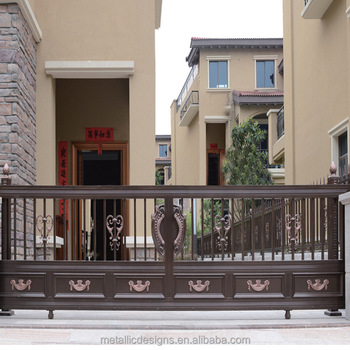 Good Sealed House Iron Gate Design Steel Sliding Gate Aluminum